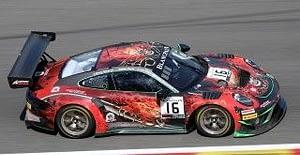 PORSCHE 911 GT3 R N.16 24 H SPA 2019 SHEN-DESCOMBES-BECHE-SIM.1:43 Spark Model